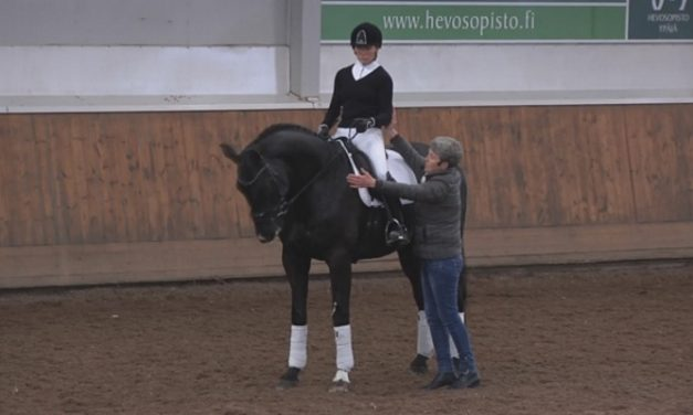 Kyra Kyrklund – Nuorella hevosella kilpaileminen